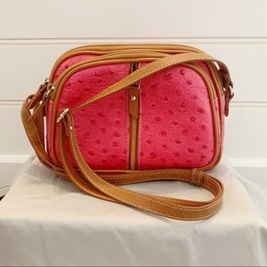 Valentina pink leather handbag